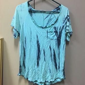 Cute blue t-shirt.